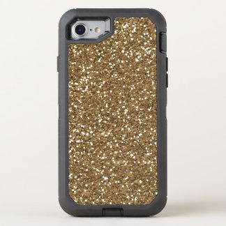 Het goud van Faux schittert bling quatrefoil 7 OtterBox Defender iPhone 8/7 Hoesje