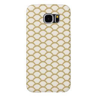 Het Goud van Faux schittert het Patroon van de Samsung Galaxy S6 Hoesje