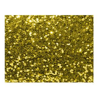 Het Goud van Faux van Glam schittert de Druk van Briefkaart