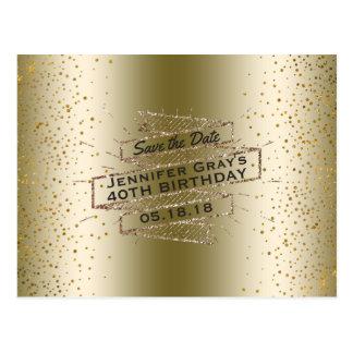 Het Goud van Glam redt de Datum de Elegante Partij Briefkaart