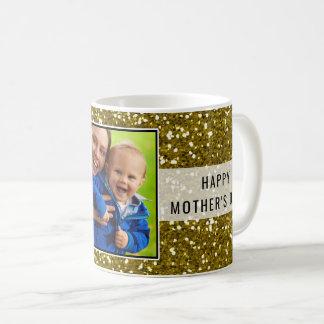 Het Goud van Glittery schittert het Moederdag van Koffiemok
