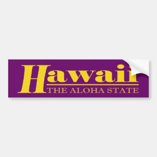 Het Goud van Hawaï Bumpersticker