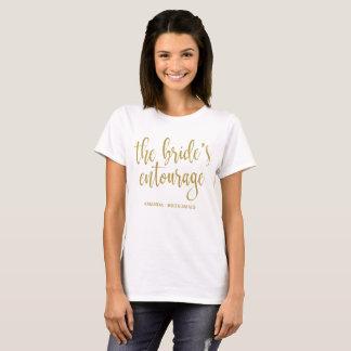 Het goud van het Gevolg van de Bruid schittert T Shirt