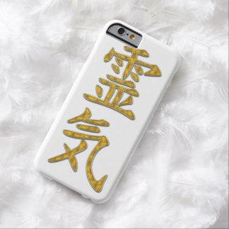Het goud van het symbool REIKI + uw achtergrond Barely There iPhone 6 Hoesje