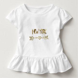 Het Goud van New York kijkt Elegante de Stad van Kinder Shirts