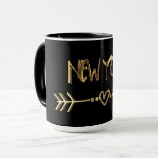 Het Goud van New York kijkt Elegante de Stad van Mok