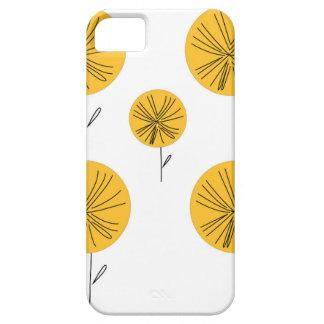 Het goud van paardebloemen op wit barely there iPhone 5 hoesje