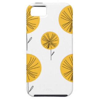 Het goud van paardebloemen op wit tough iPhone 5 hoesje