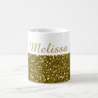 Het Goud van Sparkly schittert de Naam van de Koffiemok