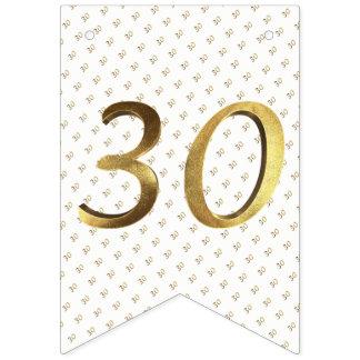 het Gouden Aantal van het 30ste van de Verjaardag Vlaggetjes