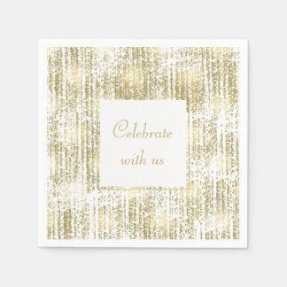Het gouden Abstracte Huwelijk van Bokeh van het Papieren Servet