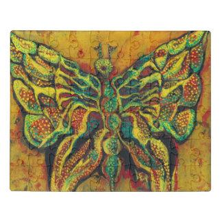 Het gouden AcrylRaadsel van de Vlinder met de Doos