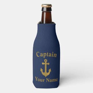 Het gouden Anker van de Boot Kapitein Bottle Flesjeskoeler