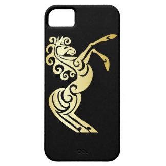 Het gouden Artistieke Paard van het Effect op Barely There iPhone 5 Hoesje