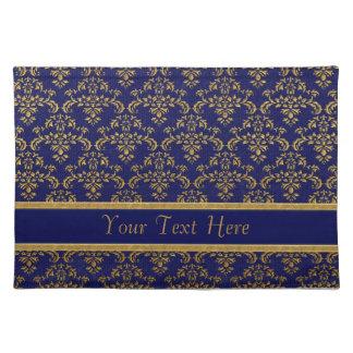 Het gouden & Blauwe Patroon van het Damast Placemat