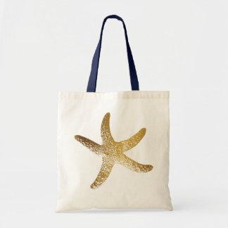 Het gouden Canvas tas van de Zeester