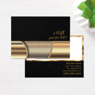 Het gouden Certificaat van de Gift van het Netwerk Visitekaartjes