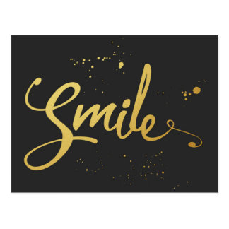 Het gouden Citaat van de Glimlach Briefkaart