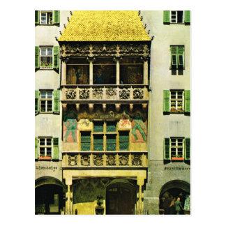 Het Gouden dak van Oostenrijk, Tirol, Innsbruck Briefkaart