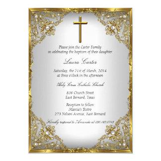 Het gouden Damast van de Parel & 12,7x17,8 Uitnodiging Kaart