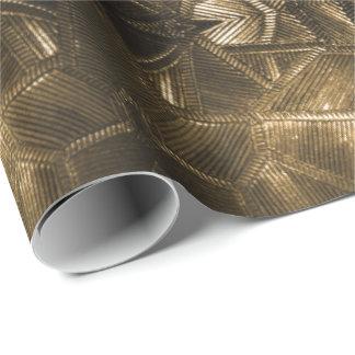 Het gouden Elegante Geweven Glas van de Glans ziet Cadeaupapier