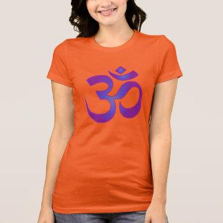 Het gouden en Paarse Symbool van Zen OM van de T Shirt
