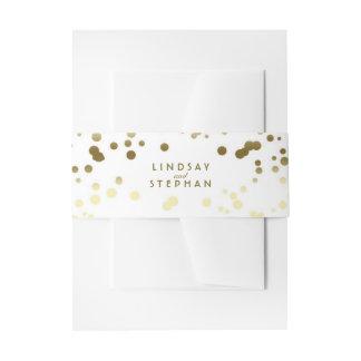 Het gouden en Witte Elegante Huwelijk van het Stip Uitnodigingen Wikkel