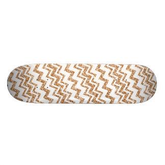 Het gouden en Witte Skateboard van de Streep van