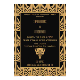 Het gouden en Zwarte Diner van de Repetitie van Kaart