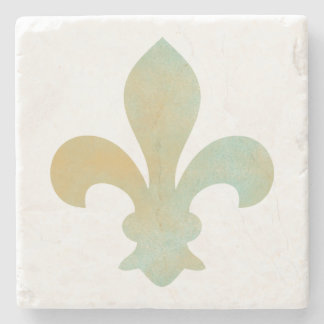 Het Gouden Franse Fleur DE Lis Stone Onderzetter