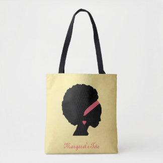 Het gouden haar van Afro van het kleurenontwerp Draagtas
