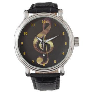 Het gouden Horloge van de Muziek van de G-sleutel