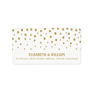 Het gouden Huwelijk van de Stip Etiket