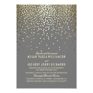 Het gouden Huwelijk van het Art deco van de 12,7x17,8 Uitnodiging Kaart