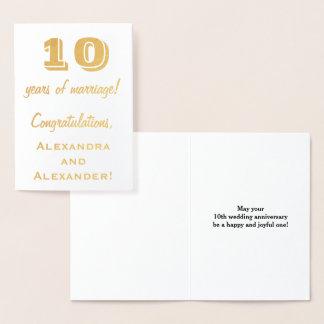 Het gouden Jubileum van het Huwelijk van de Folie Folie Kaarten