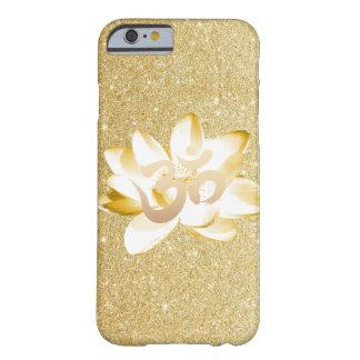 Het gouden Lotus & Om van de Yoga Goud van het Barely There iPhone 6 Hoesje