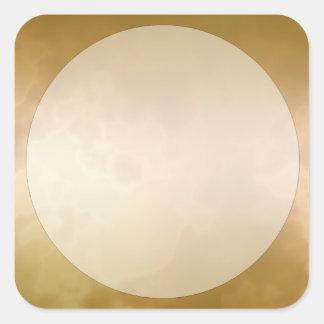 Het gouden Marmeren Grote Vierkant van de Sticker