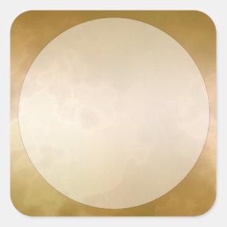 Het gouden Marmeren Kleine Vierkant van de Sticker