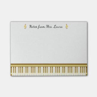 Het gouden Muzikale Instrument van het Toetsenbord Post-it® Notes