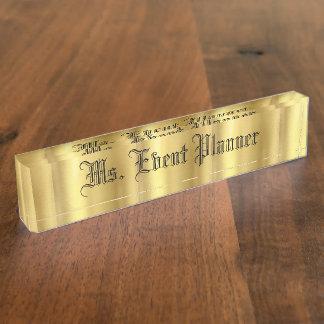 Het gouden Naambord van het Bureau
