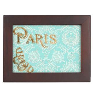 Het Gouden Ontwerp van vintage Parijs Bewaardoosje