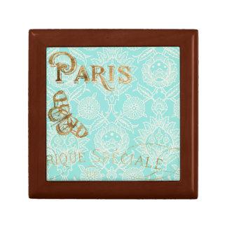 Het Gouden Ontwerp van vintage Parijs Decoratiedoosje