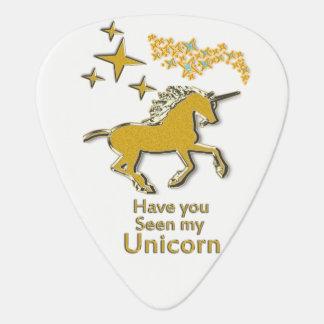 Het gouden paard van het eenhoornpony met Gouden Gitaar Plectrum 0
