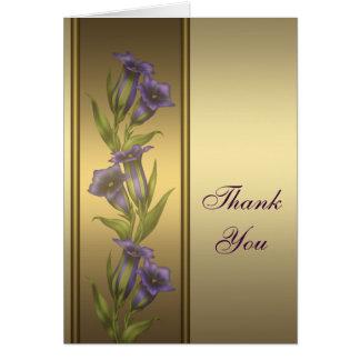 Het gouden Paarse Goud van Viooltjes dankt u Briefkaarten 0
