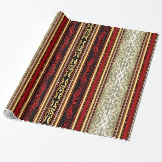 Het gouden, Rode Verpakkende Document van de Cadeaupapier