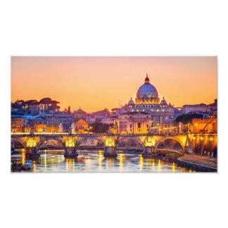 Het Gouden Uur van Rome Foto Afdruk