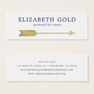 Het gouden Visitekaartje van de Pijl Mini Visitekaartjes
