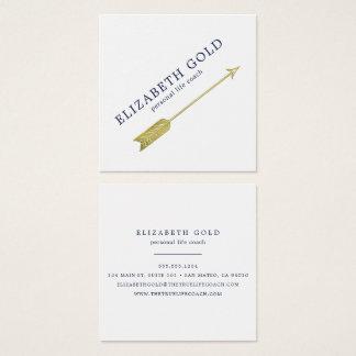 Het gouden Visitekaartje van de Pijl Vierkante Visitekaartjes