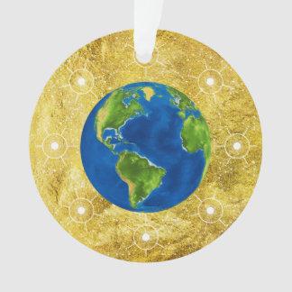 Het gouden Wereldbol van de Boom Jesse Ornament