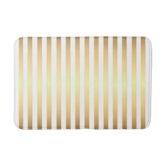 Het gouden Witte Patroon van Strepen Badmat